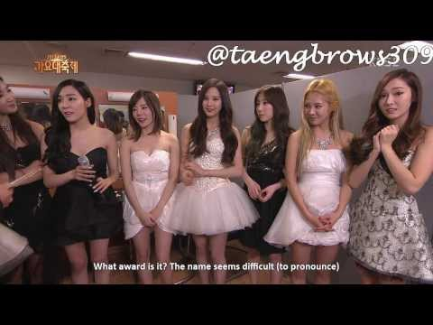 [ENG SUB] 131227 SNSD - BACKSTAGE INTERVIEW @ KBS Song Festival