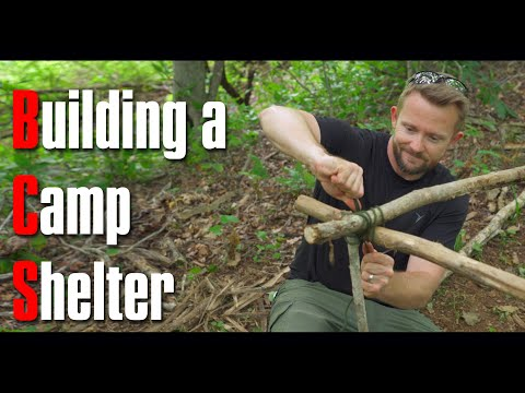 Camping in a Handbuilt Plastic Shelter Adventure : Build It Ep.1