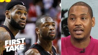 Carmelo Anthony: A Big 3 with LeBron and D-Wade was possible, but I was immature | First Take