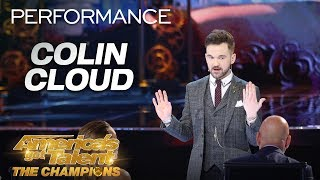 Colin Cloud: Mind Reader Makes David Hasselhoff Appear! - America's Got Talent: The Champions
