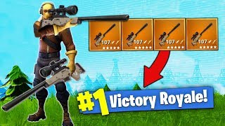 The SNIPER ONLY Challenge! [Fortnite - Battle Royale]