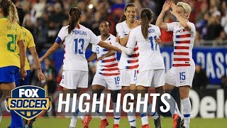 90 in 90: United States vs. Brazil   2019 SheBelieves Cup   FOX SOCCER