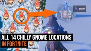 ALL 14 Chilly Gnome Locations in Fortnite - Season 7 Challenges