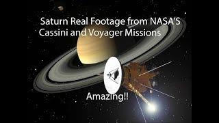 Saturn Real Space Footage(NASA) Amazing!!
