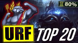 Top 20 Best Champions URF   LoL Epic ARURF montage 2018 (League of Legends)