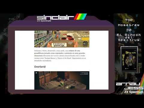 TOP HOMEBREW -30-  El Rincón del Spectrum Vol: 3 (10 mejores)