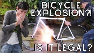 IS THE EXPLODING BIKE THEFT DEFENSE SYSTEM LEGAL?