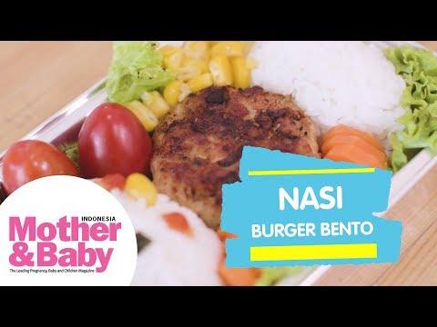 Resep Balita - Nasi Burger Bento