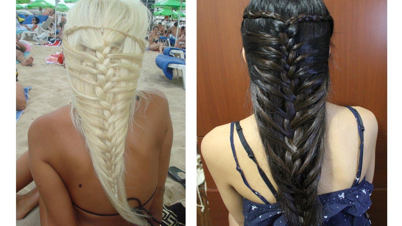 Hairstyles Braids Youtube: Mermaid French Braid Hairstyle For Medium Long Hair