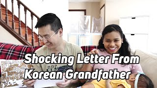 Shocking Letter From Korean Grandfather
