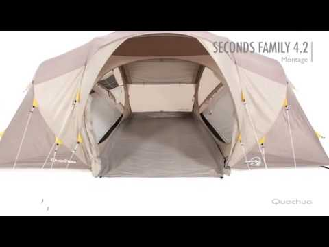 Quechua tenda campeggio 2 seconds xxl illumin fresh - Tente 4 places 2 chambres seconds family 4 2 xl ...