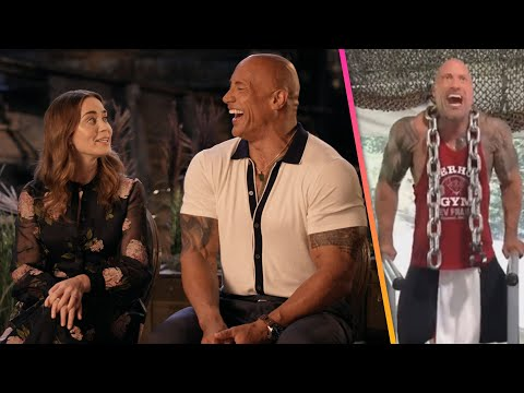 Jungle Cruise: Emily Blunt MOCKS Dwayne Johnson's Private Gym Workouts