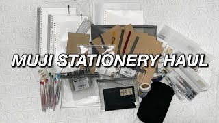 MUJI STATIONERY HAUL *chill with me*