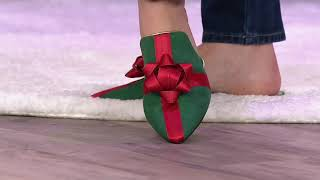 Katy Perry Holiday Bow Mules - The Stephanie on QVC