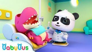 Doctor Panda Cures Baby Dinosaur's Toothache | Doctor Pretend Play | Kids Song | BabyBus Cartoon