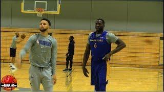 Steph Curry & Draymond Green Shooting & Handles Workout.Warriors Practice HoopJab NBA