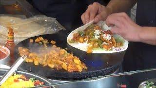 London Street Food. Mexican Fast Food Restaurant in Camden Market, Camden Town