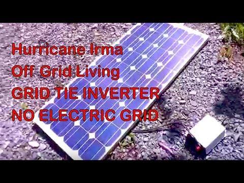 No Grid Electricity Solar Grid tie inverter + Generator Hurricane Irma GreenPowerScience