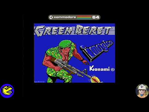 Green Beret loader, Commodore 64 - Real por S-Video