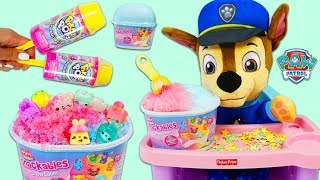 Pretend Feeding Paw Patrol Baby Chase Num Noms Snackable Surprise Snow Cones!