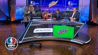 Paul Pierce drops trophy trying to hand it to Jalen Rose | NBA Countdown