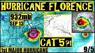 HURRICANE FLORENCE MAJOR 130MPH CAT4! HEADING STRIGHT TO US COAST! Hurricane HELENE 92L is NEXT!