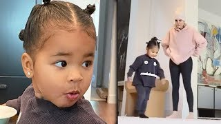 Khloe Kardashian Reacts To True Thompson Cartwheel Video