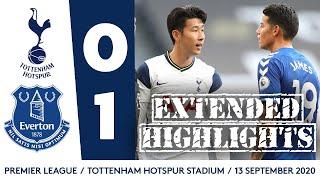 EXTENDED HIGHLIGHTS: TOTTENHAM 0-1 EVERTON
