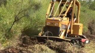 Mini Dozer, Crawler pushing Dirt, Caterpillar - Tigerbube