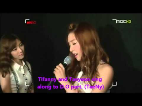 TaeTiSeo (SNSD) fangirling towards EXO-K D.O voice