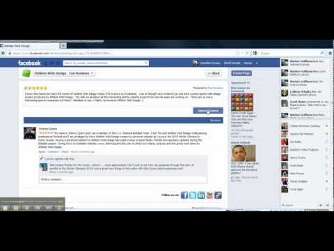 Facebook Fan Review App Tutorial | How to Post A Review on Facebook | Athlete Web Design