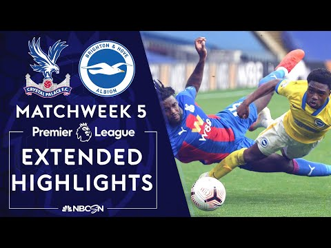Crystal Palace v. Brighton | PREMIER LEAGUE HIGHLIGHTS | 10/18/2020 | NBC Sports