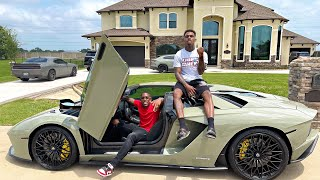 DRIVING JERMELL CHARLO FASTEST LAMBORGHINI AVENTADOR IN HOUSTON