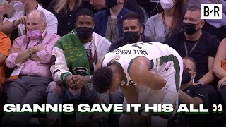 Giannis Looked Exhausted In Front Of Odell Beckham Jr. After Giving Everything He Had In Game 2