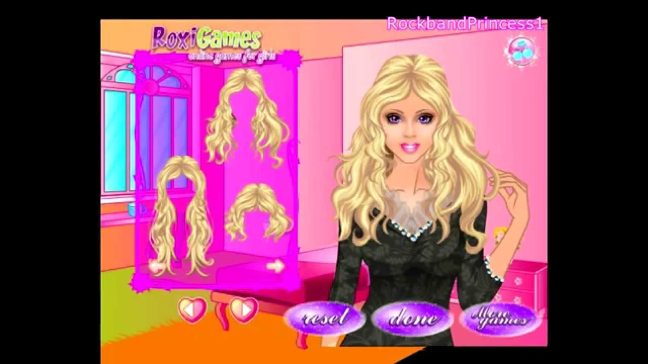Hair Styling Games Online: Barbie Dress Up Games