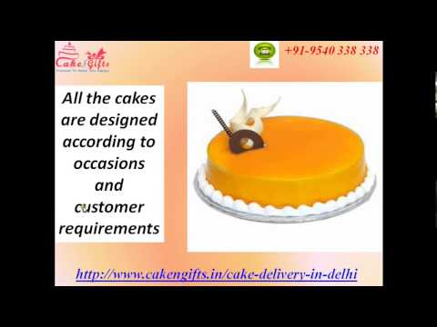 Send Fresh Cakes to Delhi via CakenGifts.in