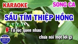 /karaoke sau tim thiep hong nhac song song ca beat tuan co karaoke