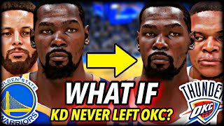 What If Kevin Durant NEVER LEFT the THUNDER for the WARRIORS? I Reset The NBA to 2015 To Find Out...