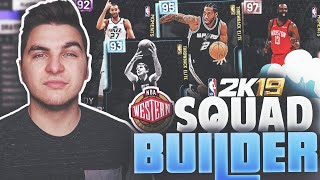 ONE PLAYER FROM EACH WESTERN CONFERENCE TEAM! NBA 2K19 MyTeam Squad Builder