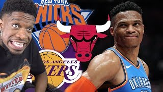 WAIT SO WHERE IS RUSSELL WESTBROOK GOING? TOP 5 BEST TEAMS FOR BRODIE