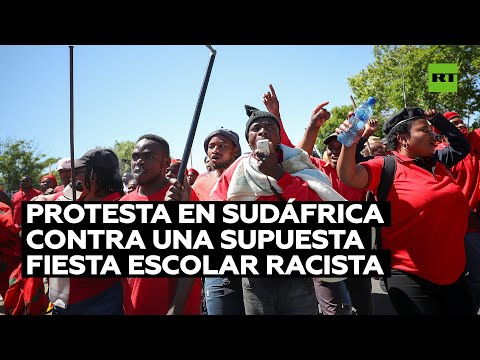 Dispersan una protesta contra una fiesta escolar supuestamente racista en Sudáfrica