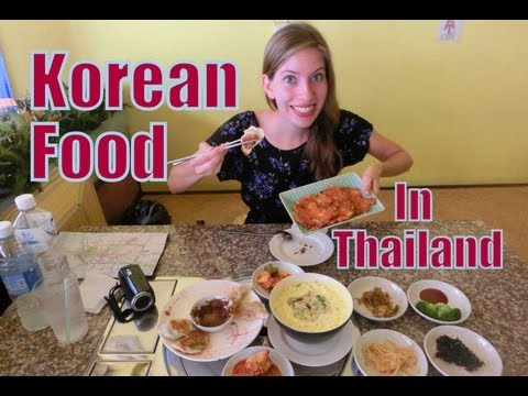 0 Eating Korean Food in Thailand | Delicious Korean Meal (김치전 & 군만두) at the Korea House in Chiang Mai