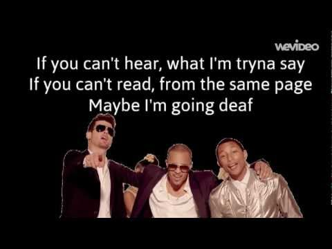 Baixar Robin Thicke feat. T.I, Pharrell - Blurred Lines (Lyrics Video)