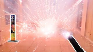 Lighting Fireworks Inside My House!