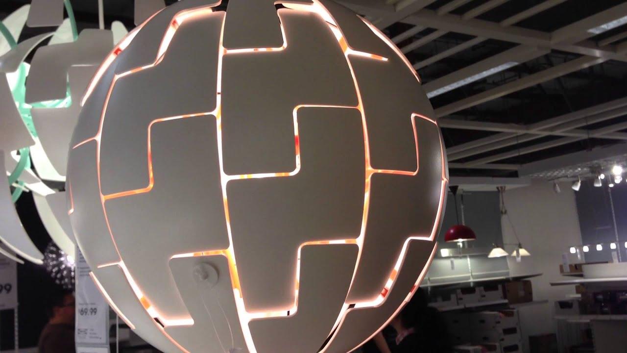 ikea death star lamp youtube. Black Bedroom Furniture Sets. Home Design Ideas