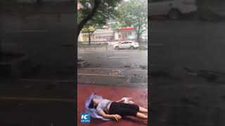 Dramatic moments typhoon Mangkhut sweeps across southern China