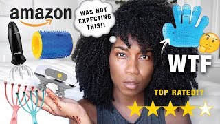 Testing TOP RATED SCALP MASSAGERS on Amazon | WAS NOT Expecting THIS!!!