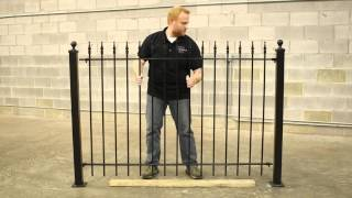 Wrought Iron Fence DIY Installation