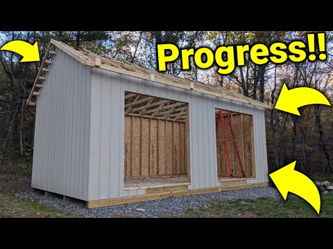 ►How I Built a Shed: Installing Wall Panels, Sub Facias, and Eve Overhangs