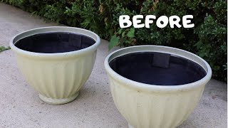 (3 of 3) Thrift Store Haul: BEFORE and AFTER Spray Painted Planters! - Thrift Diving